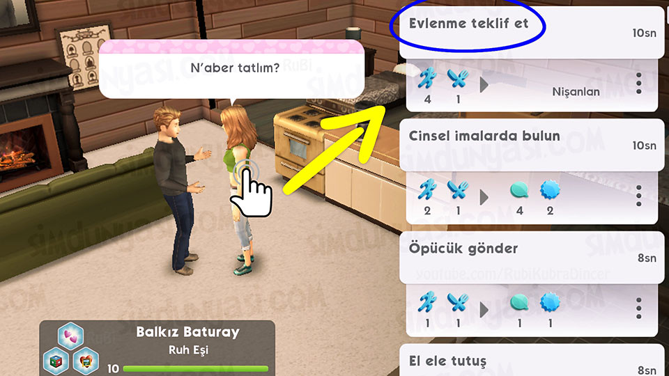 The Sims Mobile - Ruh Eşine Evlenme Teklifi Et
