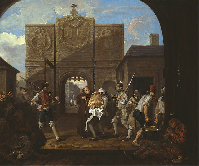 O the Roast Beef of Old England ('The Gate of Calais') by William Hogarth