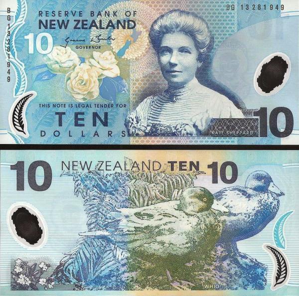 10 dolárov Nový Zéland 2013, polymer 186c
