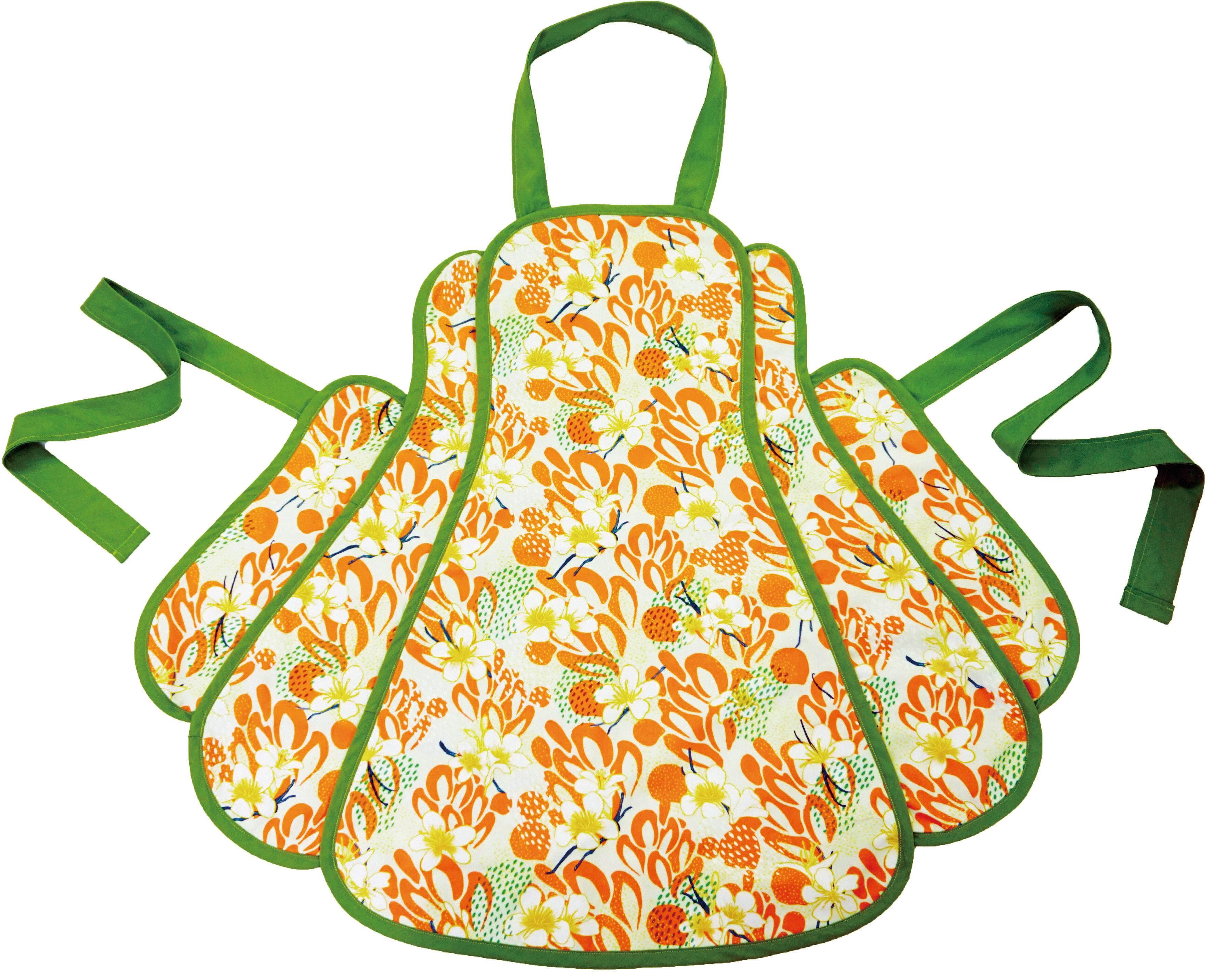 手作版型(花瓣圍裙) 花苞圍裙 工作圍裙 廚房烹調圍裙 紙型 SW5001-22