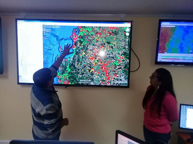 CONAF recibió visita de monitores de seguridad escolar CEAT