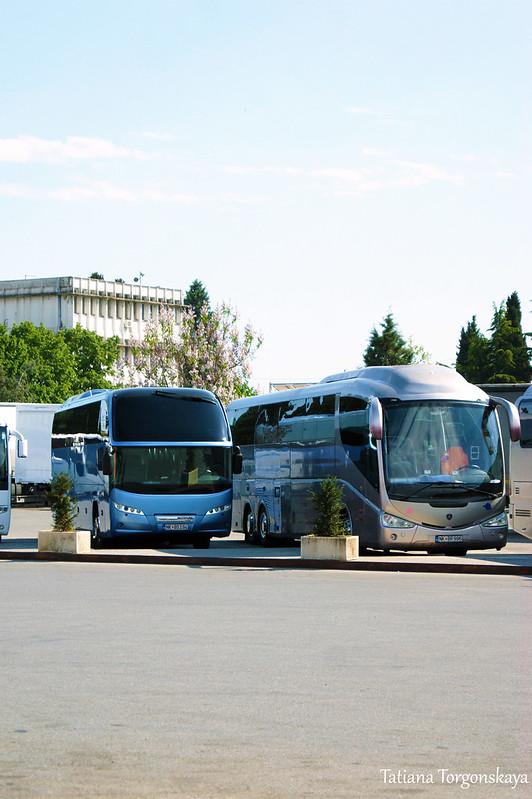 Автобусы на станции в Подгорице