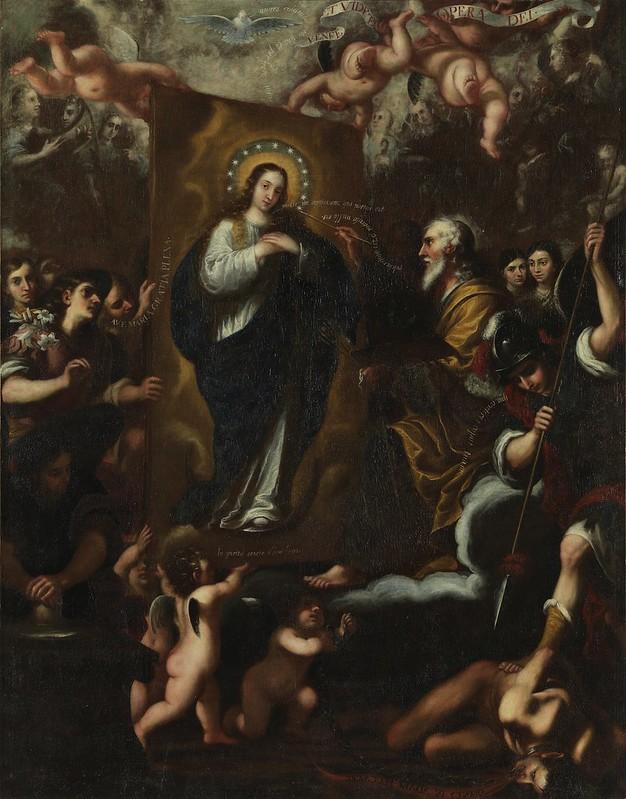José García Hidalgo - Dios Padre pintando a la Virgen