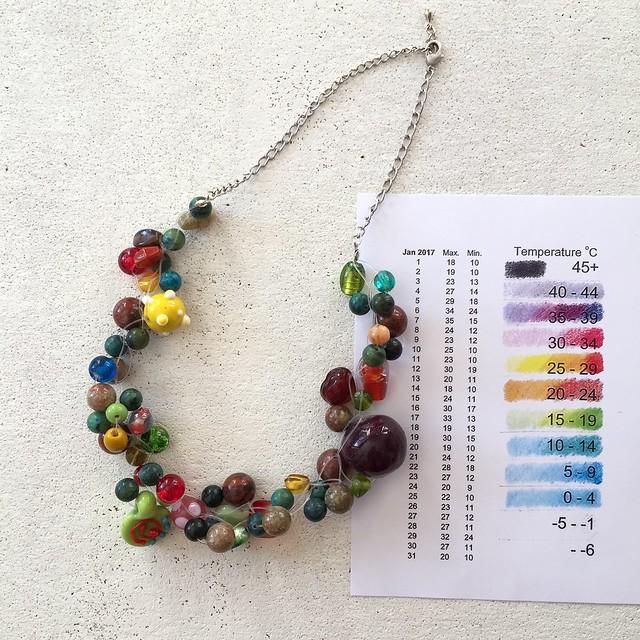 Jan 2017 temperature necklace