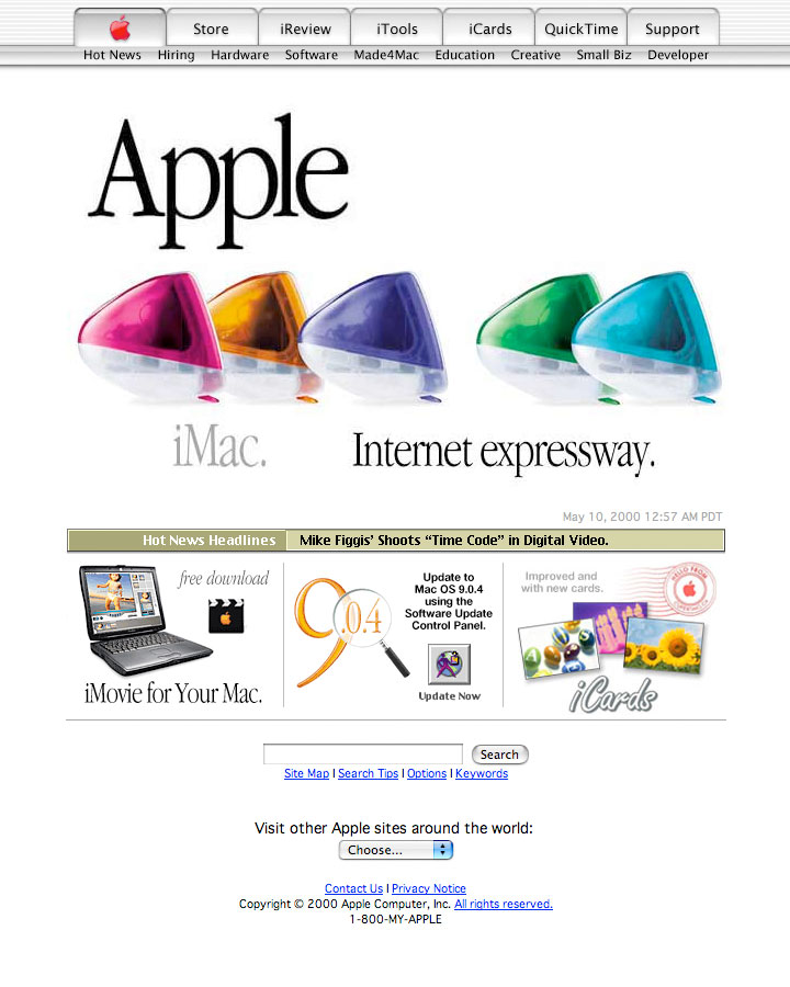 Apple.com May 10, 2000