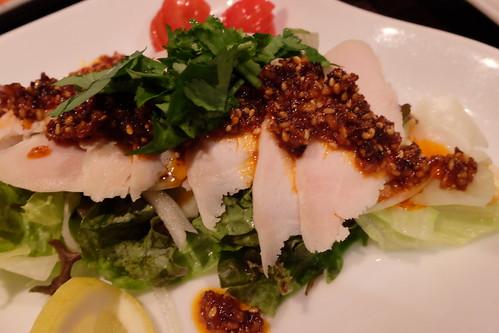 地鶏の冷燻ハム~手作り・スタミナ大蒜香味ソース~ 西5東3 26