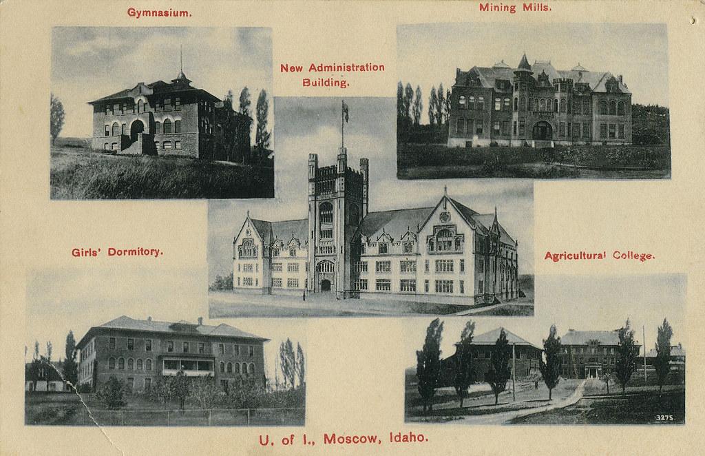 ... Multiview Of University Of Idaho, 1908   Moscow, Idaho | By Shook Photos