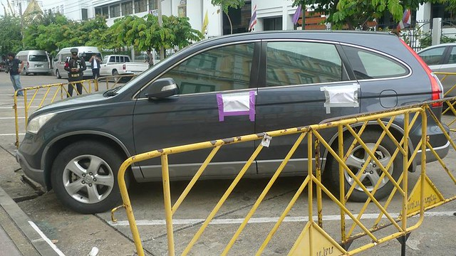 june's car confiscated in front of the Military Court 26 - 27 June 2015