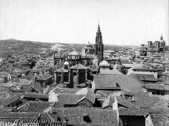 Vista de la ciudad desde el Alcázar  en 1897 por Rafael Garzón