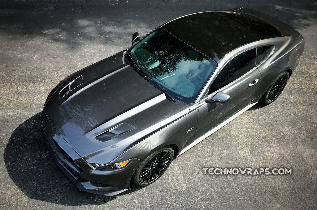 Car Vinyl Roof Wrap On Ford Mustang In Orlando Florida Flickr