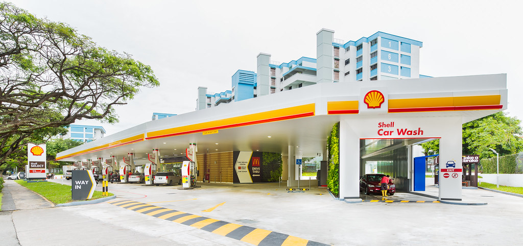 The revamped Shell station at Tampines Avenue 2 looks brand new. (Credit: Edelman)