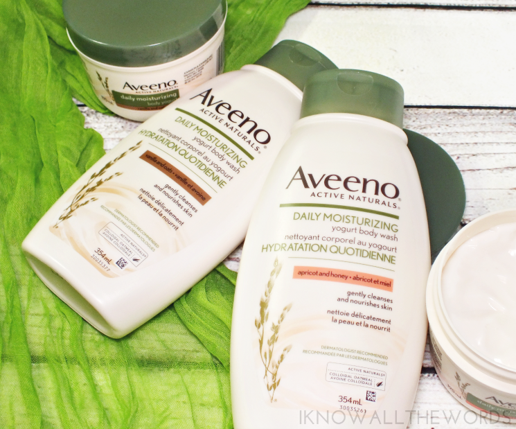 Aveeno Daily Moisturizing Yogurt Body Wash & Lotion (3)