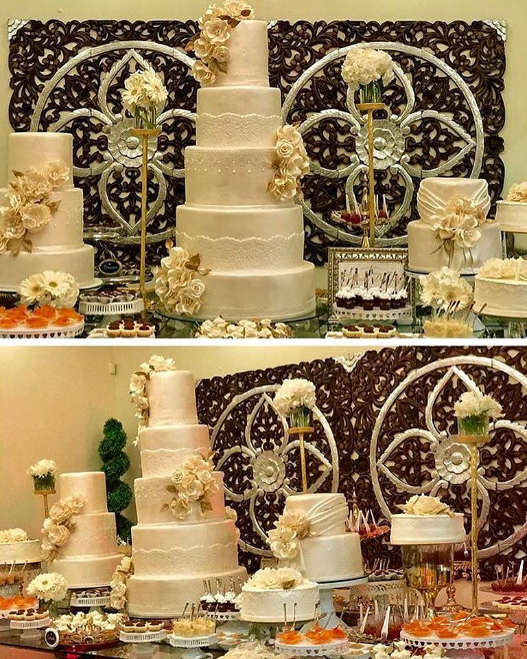 It\'s All About The Presentation... Wedding Cake Front and … | Flickr