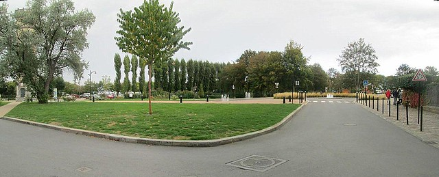 Tree-lined Square, Honfleur