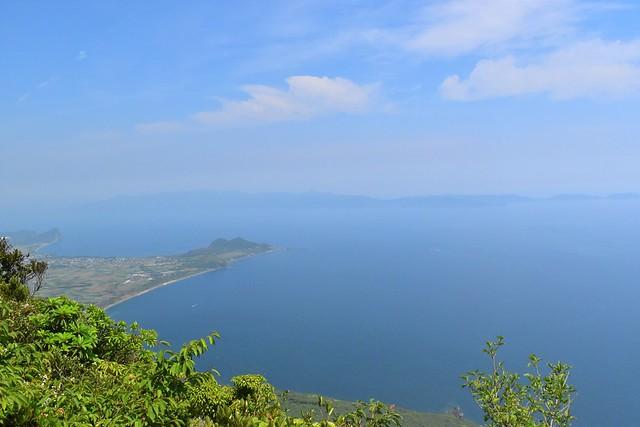 開聞岳7.1合目展望台からの眺め