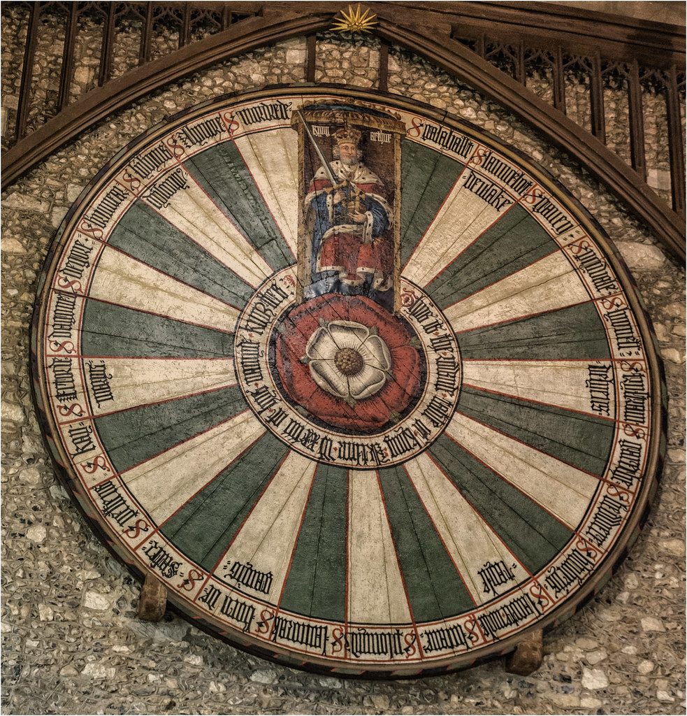 The Round Table in the Great Hall of Winchester 34968784796_a427d1f4d0_b