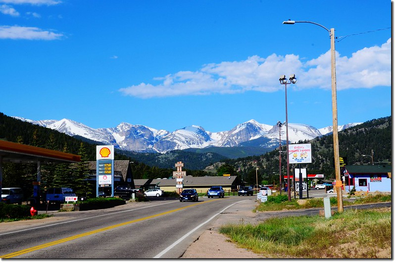Viewing Rocky Mountains from Estes Park