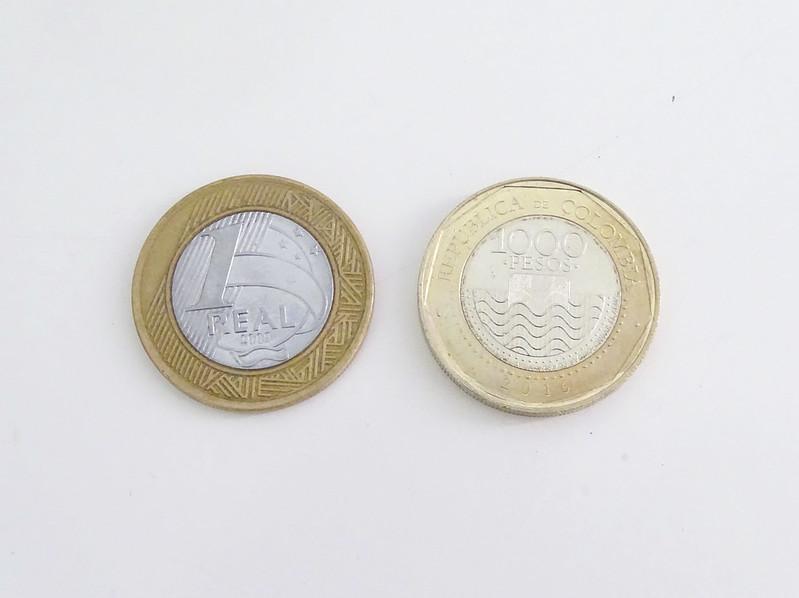 moedas da colômbia