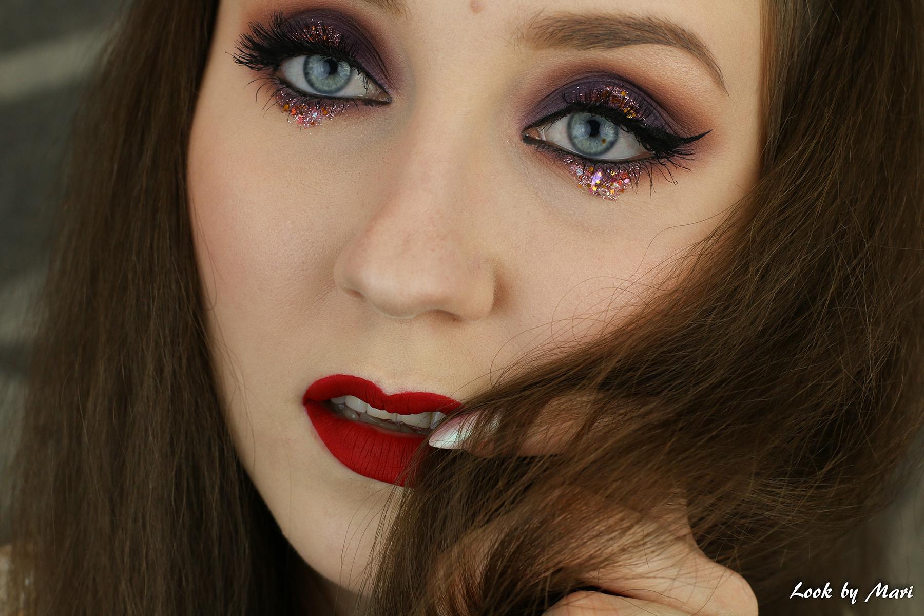 1 glitter eye makeup tutorial inspiraatio inspo lilac pink blog