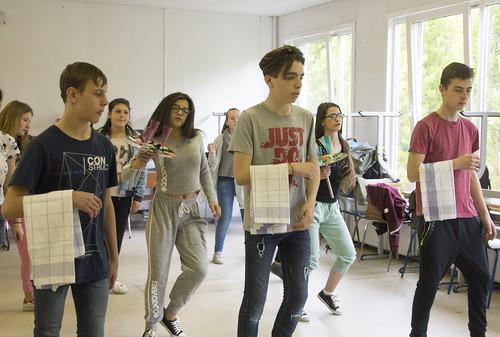 Fieris féeries - Préparation avec les élèves de 1e et 2e année différenciée de l'IPES d'Ougrée