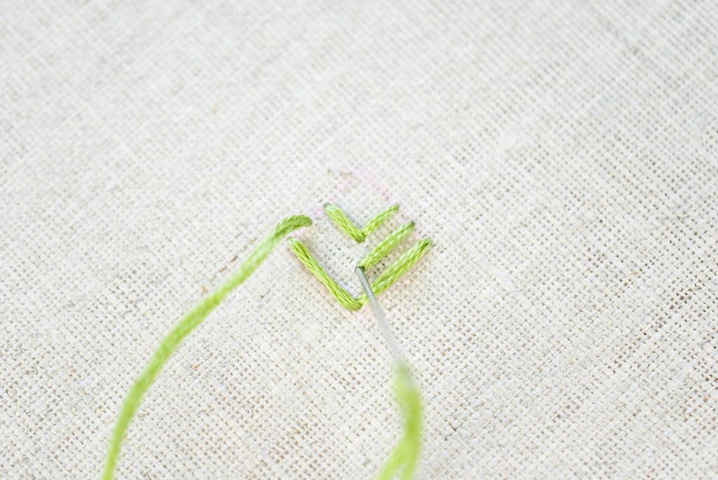 Foliage Stitch Pineapple Embroidery