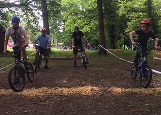 Scouts and Leaders try BMX biking