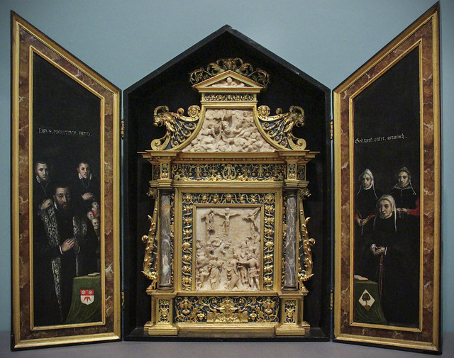 Home alter of Adriaan van Blijenburg and Clara Bogaart, approx. 1550-1555, anonymous