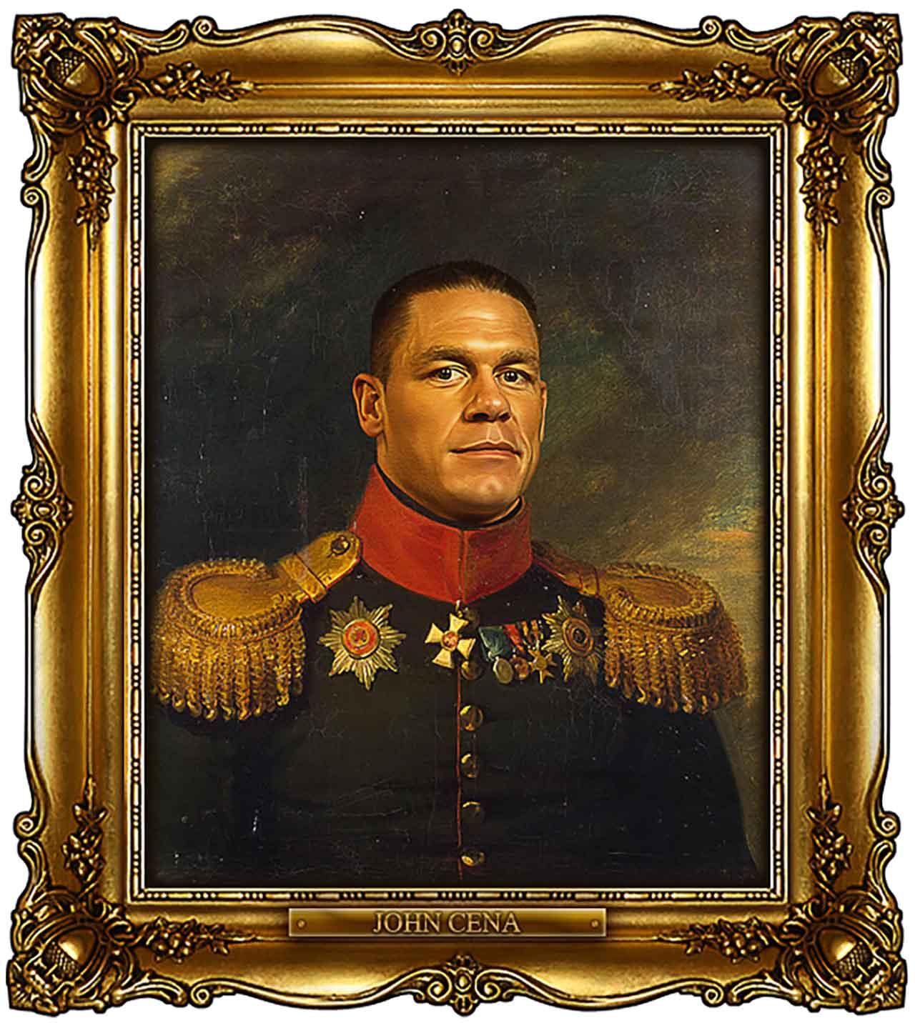 Artist Turns Famous Actors Into Russian Generals - John Cena