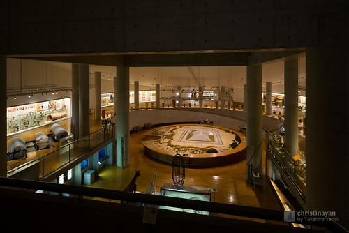 Exhibition space of Osaka Pref. Chikatsu-Asuka Museum (大阪府立近つ飛鳥博物館)