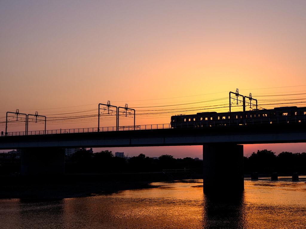 多摩川の夕暮れ_その2