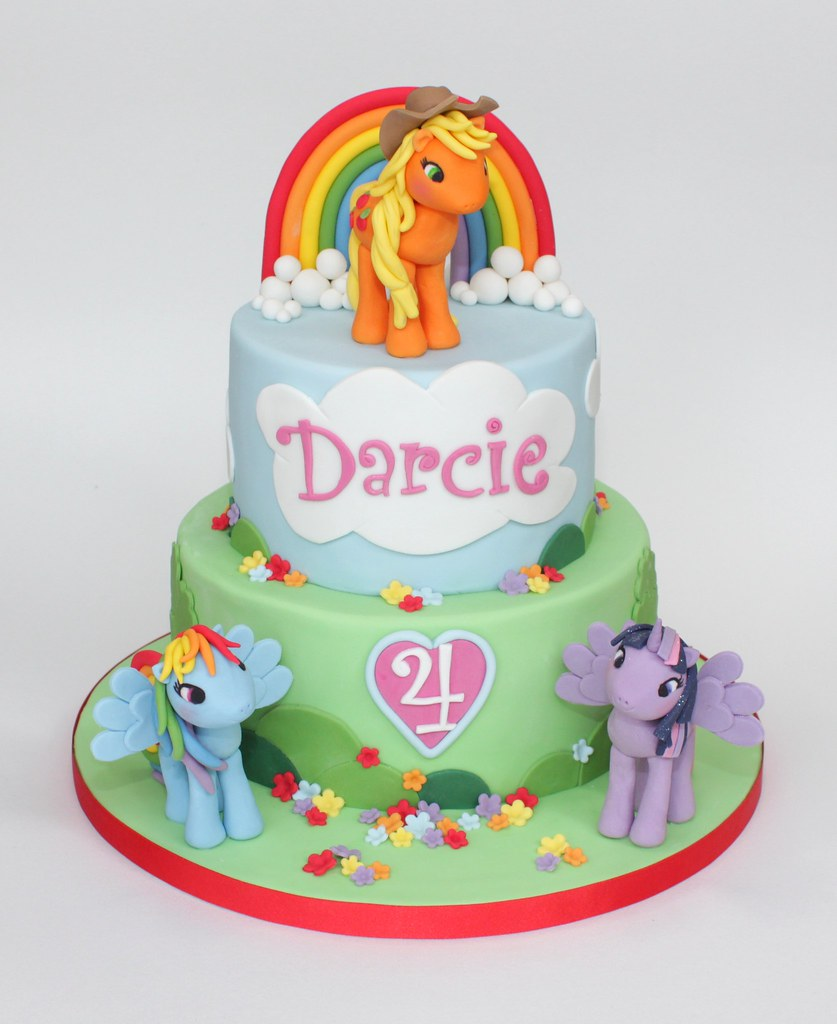 My Little Pony Cake For A 4th Birthday Applejack Is The Flickr