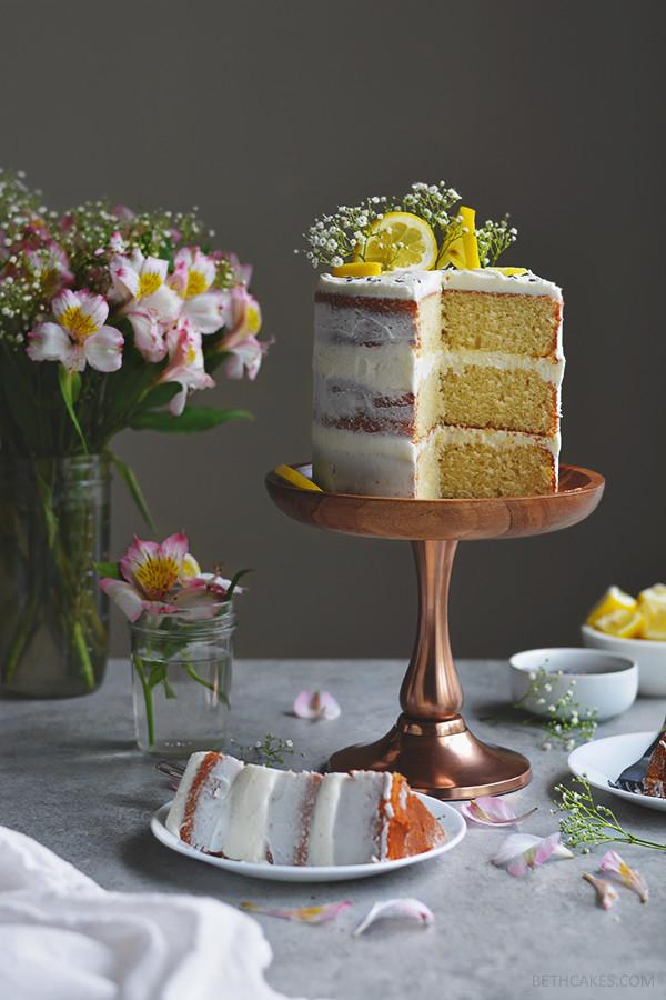 lemon layer cake | bethcakes.com