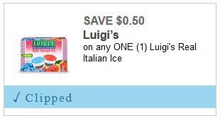 deal on Luigi's Real Italian Ice