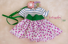 "Watermelon Crush - set of clothing for 15-17"" cloth dolls"