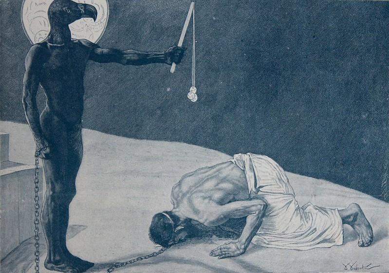 Sascha Schneider - Mammon and his Slave, 1896