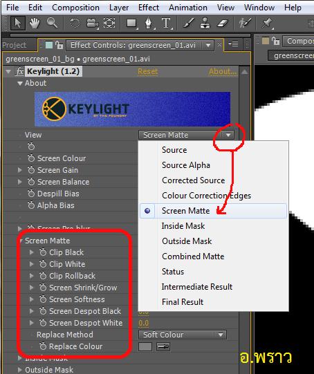 การนำฉากเขียวออก (Green Screen) โดยใช้ Keylight ใน Adobe After Effects