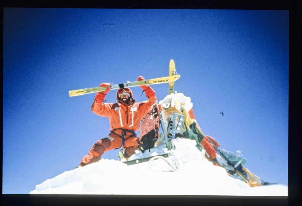 Ο Hans Kammerlander στην κορφή του Έβερεστ το 1996 μετά από 17 ώρες από την Βόρεια πλευρά με εκκίνηση το Advanced Base Camp