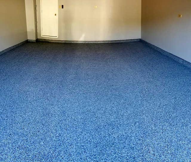 New Garage Flooring: Epoxy Flake Garage Floor- Infinity Concrete Creations