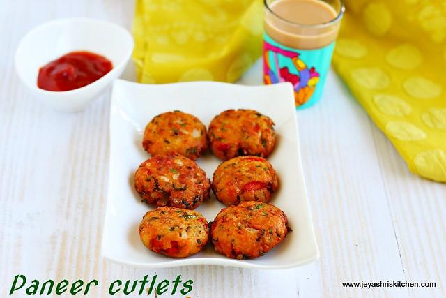 Paneer -cutlets