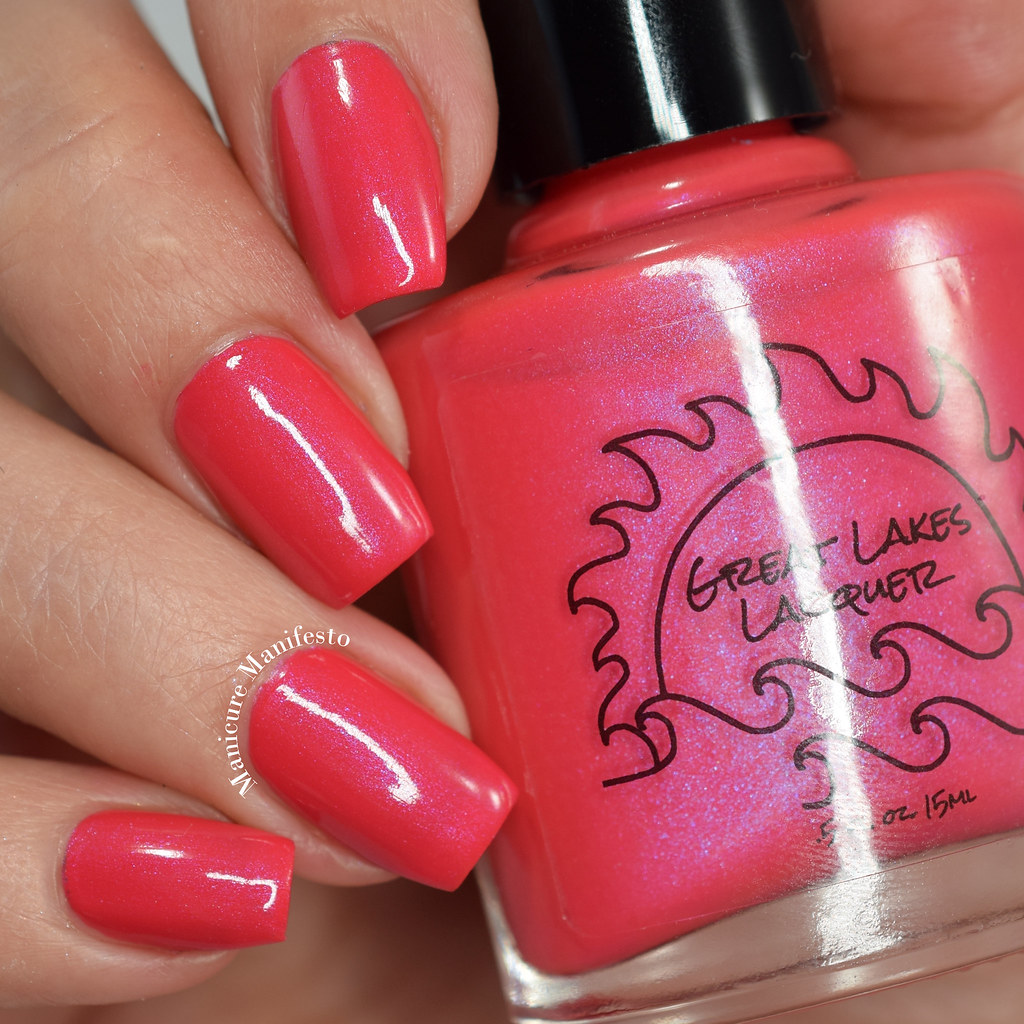 Great Lakes Lacquer Wandering NYC In A Coral Coat