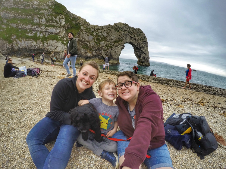 smiles at Durdle Door