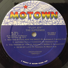 THE SUPREMES:FLOY JOY(LABEL SIDE-B)