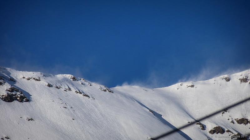 Sublimación de agua en las cumbres de Núria