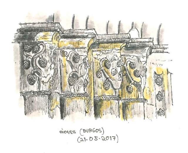 Siones (Burgos). Capiteles