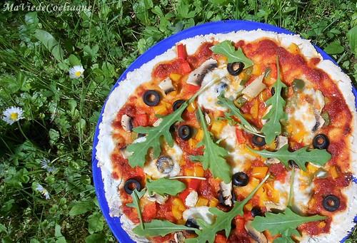 pizza végétarienne sans gluten