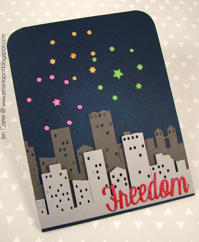 Jen Carter Freedom Fireworks Cityscape Front 3