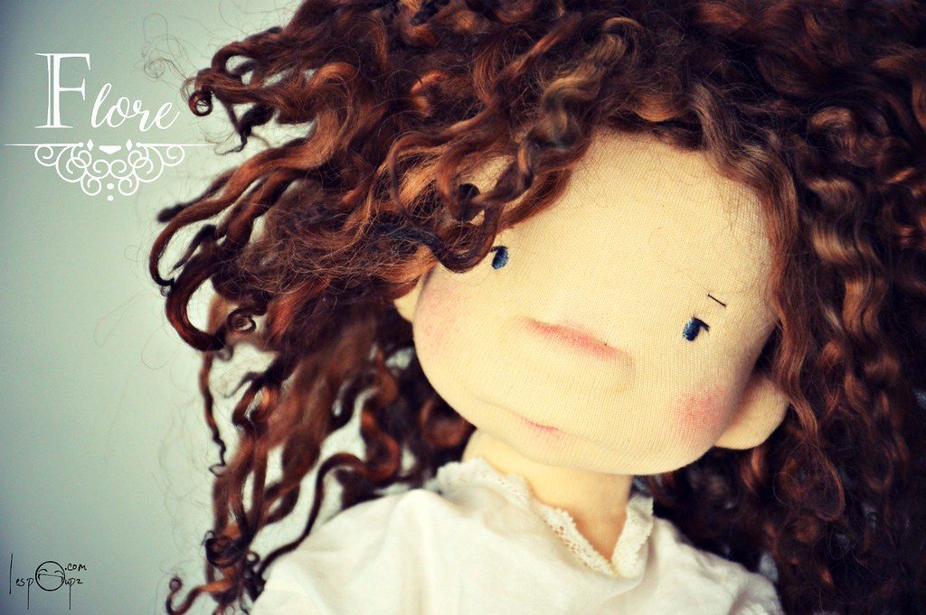 Flore, 17'' Natural Fiber Doll by LesPouPZ