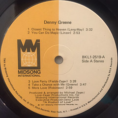 DENNY GREENE:DENNY GREENE(LABEL SIDE-A)