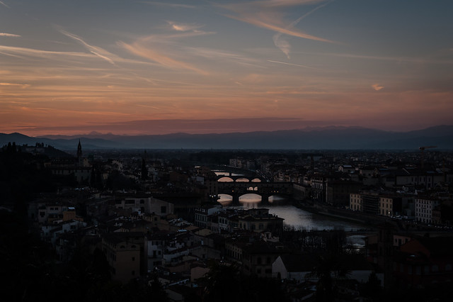 Sunset at Piazzale Michelangelo, Florence