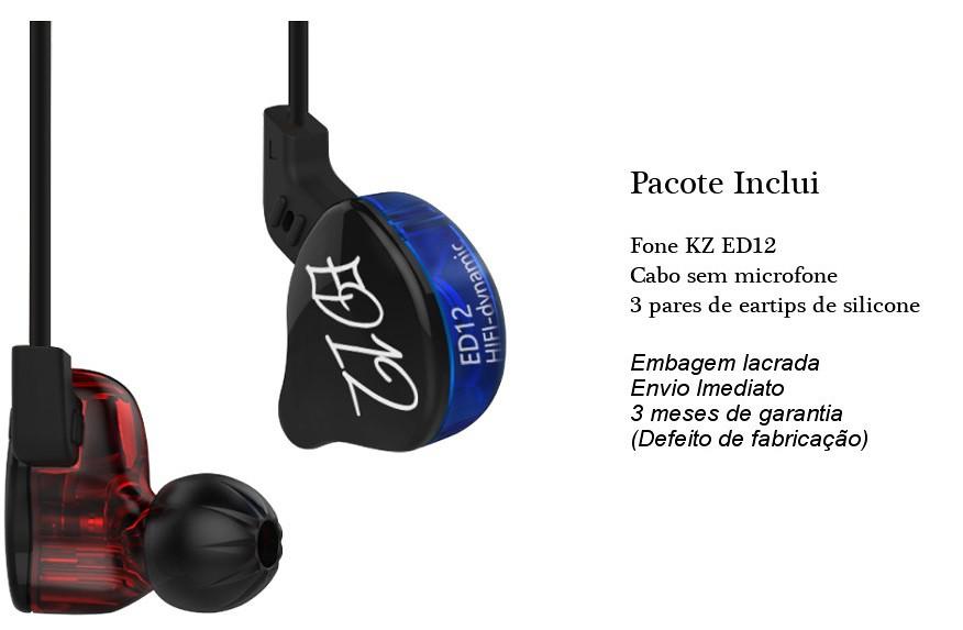Fone In Ear Kz ED12 Retorno Monitor Palco